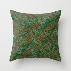 pattern from many circles shiny with metallic effect Throw Pillow