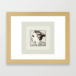I might be a little girl in a book? Framed Art Print