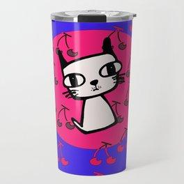 Cherry Kitty Travel Mug