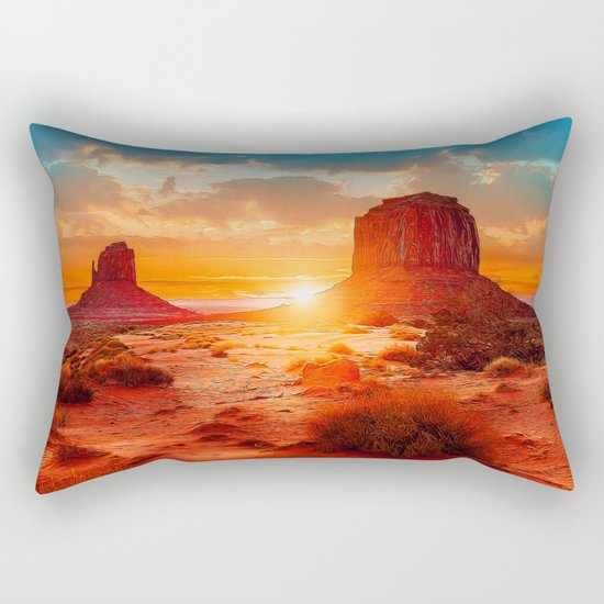 Red Dawn Rectangular Pillow