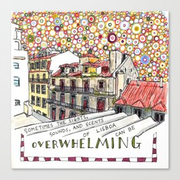 overwhelming Canvas Print