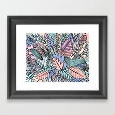 Pattern leaves Framed Art Print