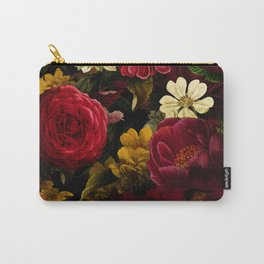 Dutch Midnight Vintage Red Roses Garden Carry-All Pouch