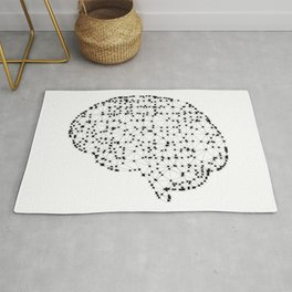 Brain with dots Rug