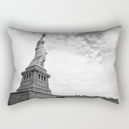 Black and White Liberty Rectangular Pillow