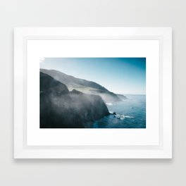 Sea Mist on the Big Sur Framed Art Print
