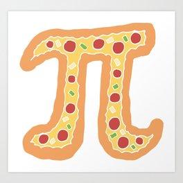 Pizza Pi Funny Visual Math Pun - Mathematics Humor Gift Art Print