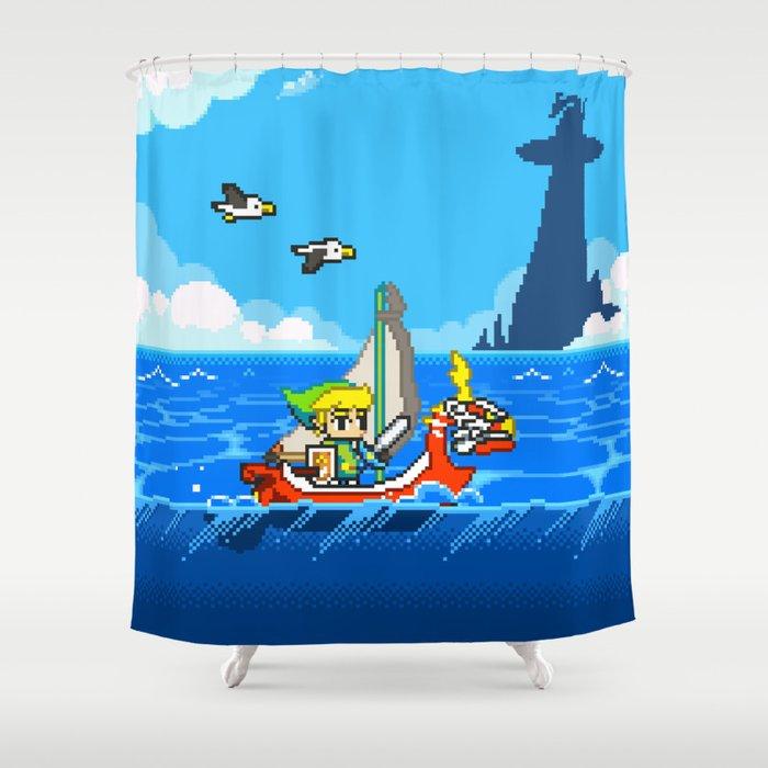 The Legend Of Zelda Wind Waker Advance Shower Curtain