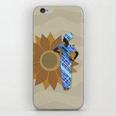 Sunflower Lady iPhone & iPod Skin