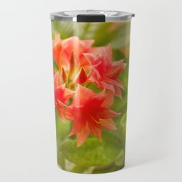 Rhododendron called Azalea red flowers Travel Mug