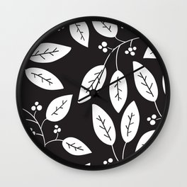 leaves patterned Wall Clock