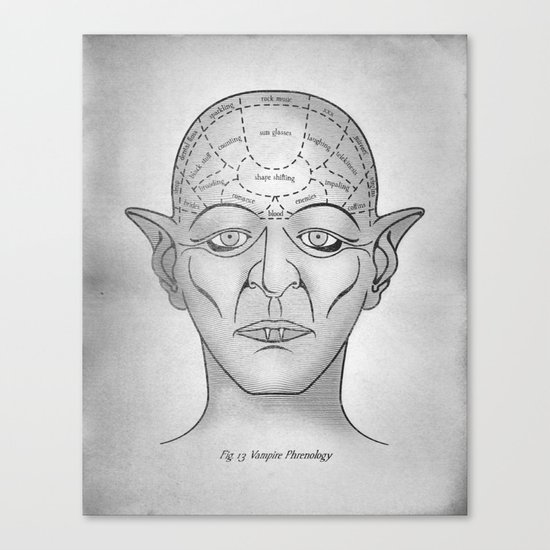 Vampire Phrenology Canvas Print