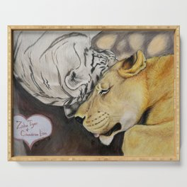 """CamBu"" Cameron Lion & Zabu Tiger Serving Tray"