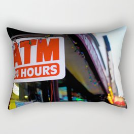 ATM and Empire State Building Rectangular Pillow