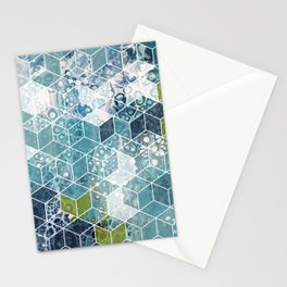 Ocean cubes Stationery Cards