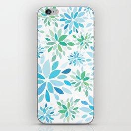 Nature's Healing Mandala Blue iPhone Skin