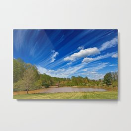 Meadowlark Cloud Gardens Metal Print