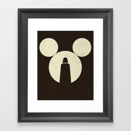 The Dark Side of the Mouse Framed Art Print
