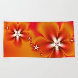 Fleur d'Automne Fractal Beach Towel