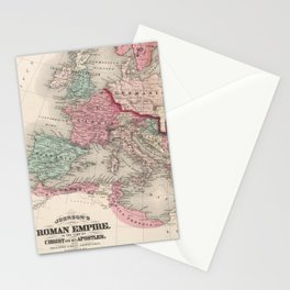 Vintage Map of The Roman Empire (1870) Stationery Cards