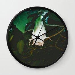 White Datura Wall Clock