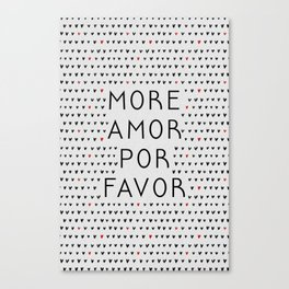 More Amor Black & Red Canvas Print
