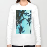 palm trees Long Sleeve T-shirts featuring Palm Trees by Alexandra Str