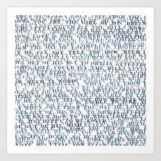 Sentences of Love Art Print