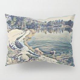 Mountain Lake Trail, California Pillow Sham