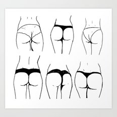 Study of the female buttocks Art Print
