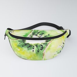 Watercolor kiwi pattern Fanny Pack