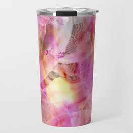 Abstracted Bearded Iris Travel Mug