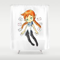 card Shower Curtains featuring Card Mistress by Freeminds