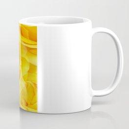 Modern Abstract Seamless Yellow Rose Petals Coffee Mug