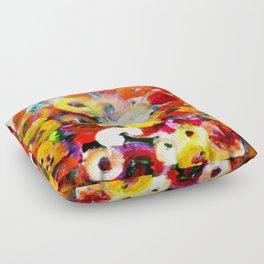 Aboriginal Art - Finger Painting Floor Pillow