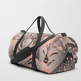 Monstera Gradient Pastel Duffle Bag