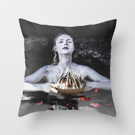 The Crown Throw Pillow