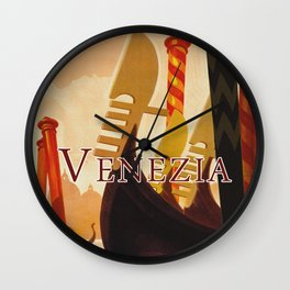 Venezia Italia ~ Venice Italy Travel Wall Clock