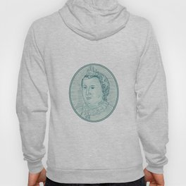 18th Century European Empress Bust Oval Drawing Hoody