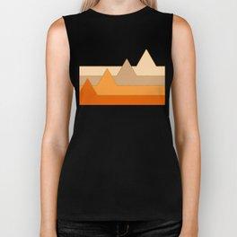Orange Mountains #society6 #decor #buyart Biker Tank