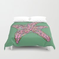 starfish Duvet Covers featuring Starfish by Planet Hinterland by Carmen Hickson