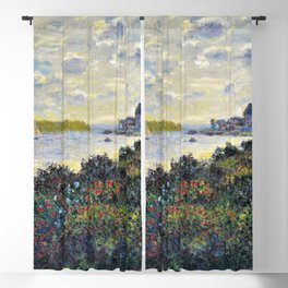 Red Poppies on the banks of the Seine at Argenteuil by Claude Monet Blackout Curtain