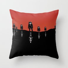 The Rust Coloured Soil: Something Strangely Familiar Throw Pillow