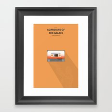 Guardians of the galaxy - minimal poster Framed Art Print