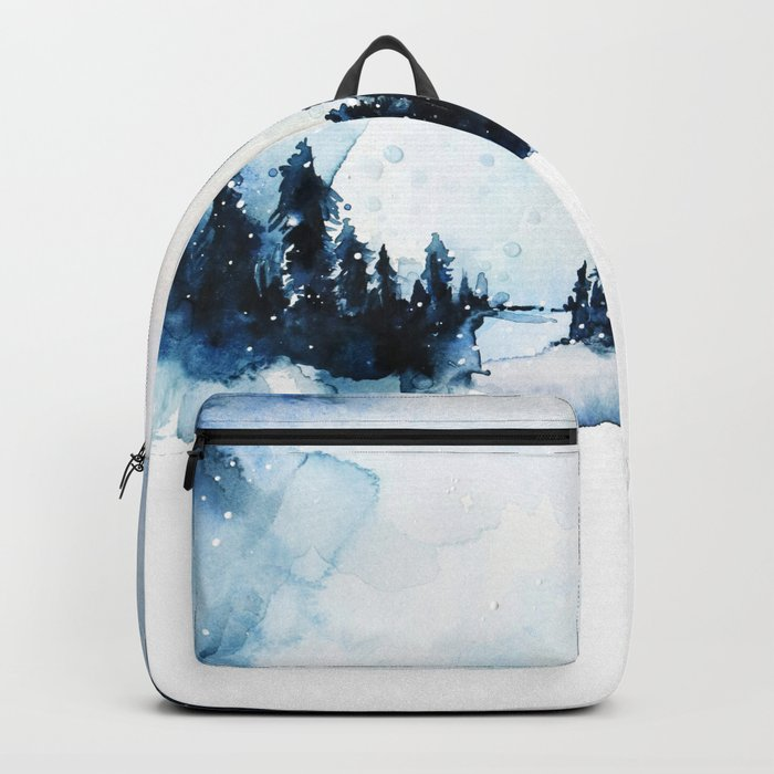 Winter Watercolor Backpack