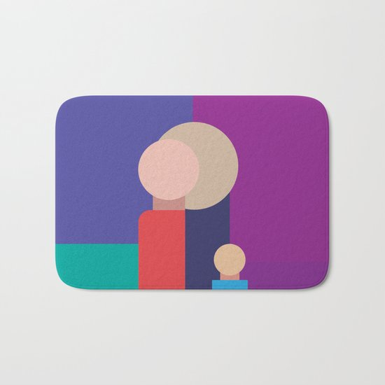 Family - Father, Mother, Child Bath Mat