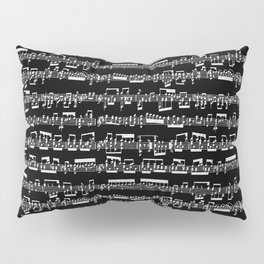 Sheet Music // Black Pillow Sham