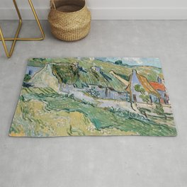 Vincent van Gogh Cottages Rug