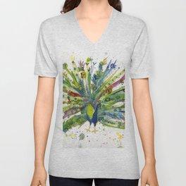 Peacock Unisex V-Neck