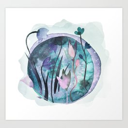 Moonflowers Art Print